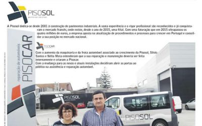 Pisosol destacada na revista Portugal Inovador